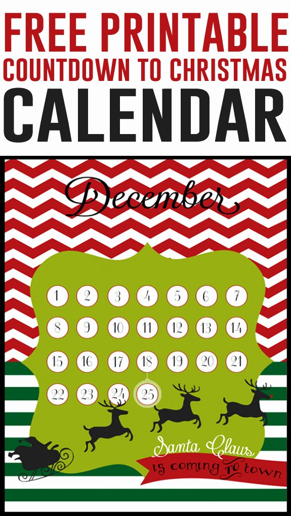Free Printable Countdown Calendar Inspirational 20 Fun Christmas Countdown Ideas Eighteen25