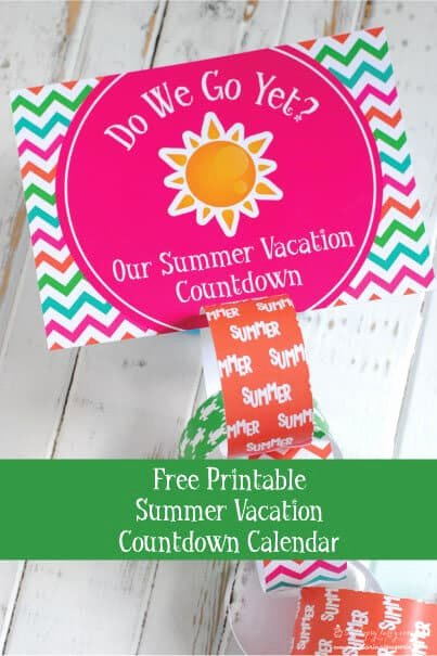 Free Printable Countdown Calendar Inspirational Free Printable Summer Vacation Countdown Calendar