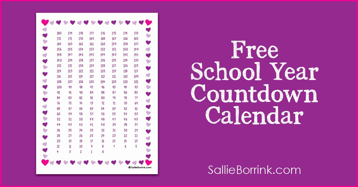 Free Printable Countdown Calendar Inspirational Free School Year Countdown Calendar Printable A Quiet