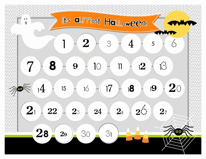 Free Printable Countdown Calendar Inspirational Halloween Countdown Printable