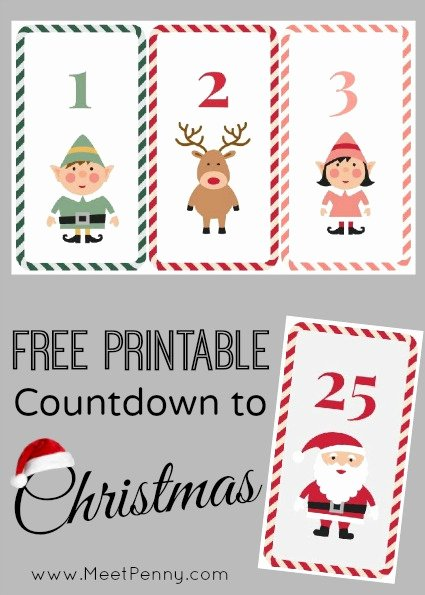 Free Printable Countdown Calendar Luxury Free Printable Countdown to Christmas Meet Penny