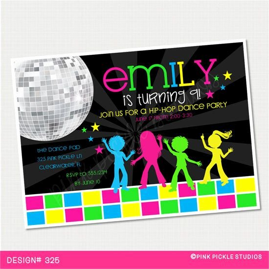 Free Printable Dance Party Invitations Best Of Disco Invitations Dance Party Disco Party Invitations