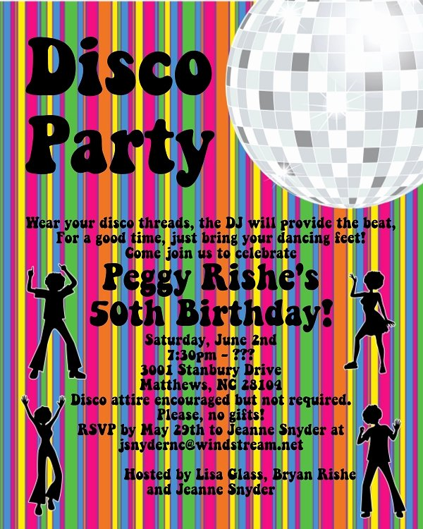 Free Printable Dance Party Invitations Elegant Disco Dance Party Birthday Invitations Printable or Printed