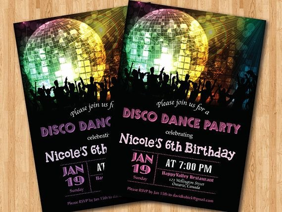 Free Printable Dance Party Invitations Fresh Disco Dance Party Birthday Invitation Girl Birthday Party