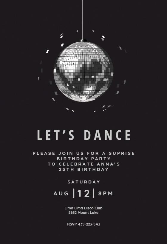 Free Printable Dance Party Invitations Inspirational Disco Ball Party Invitation Template Free In 2019