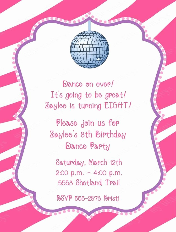 Free Printable Dance Party Invitations Inspirational Free Dance Party Printable Invitations Google Search
