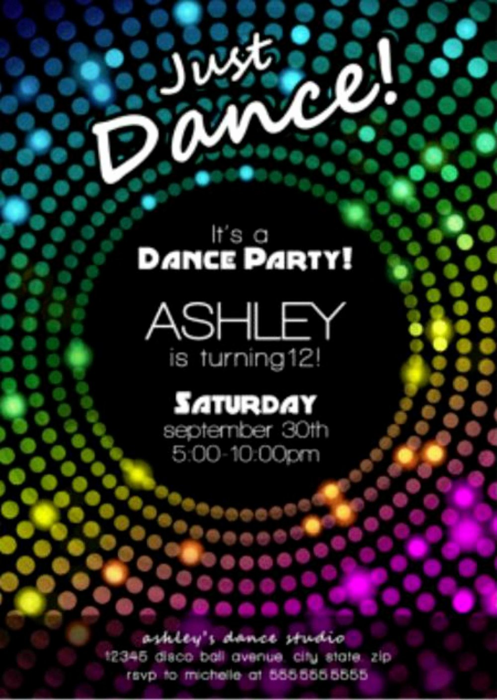 Free Printable Dance Party Invitations Unique Free Disco Party Invitation