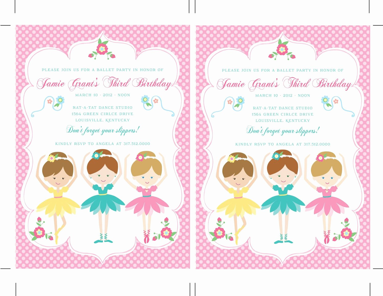 Free Printable Dance Party Invitations Unique Printable Diy Ballerina Birthday Ballet Invitations