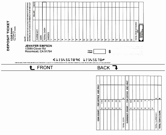 Free Printable Deposit Slips Template Beautiful 12 Free Printable Deposit Slip Template Rruur