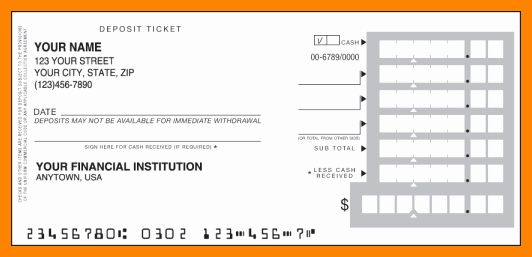 Free Printable Deposit Slips Template Beautiful 8 Free Printable Deposit Slips
