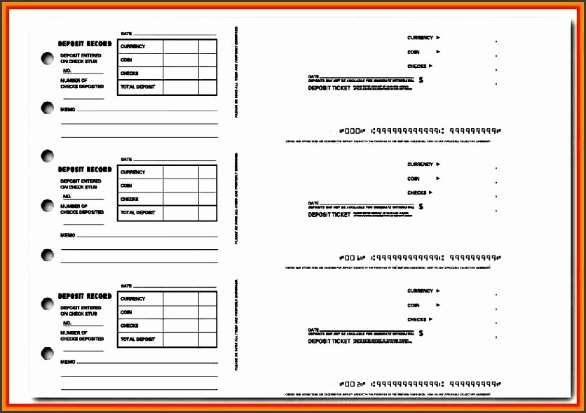 Free Printable Deposit Slips Template Beautiful 9 Deposit Slip Template Sampletemplatess Sampletemplatess