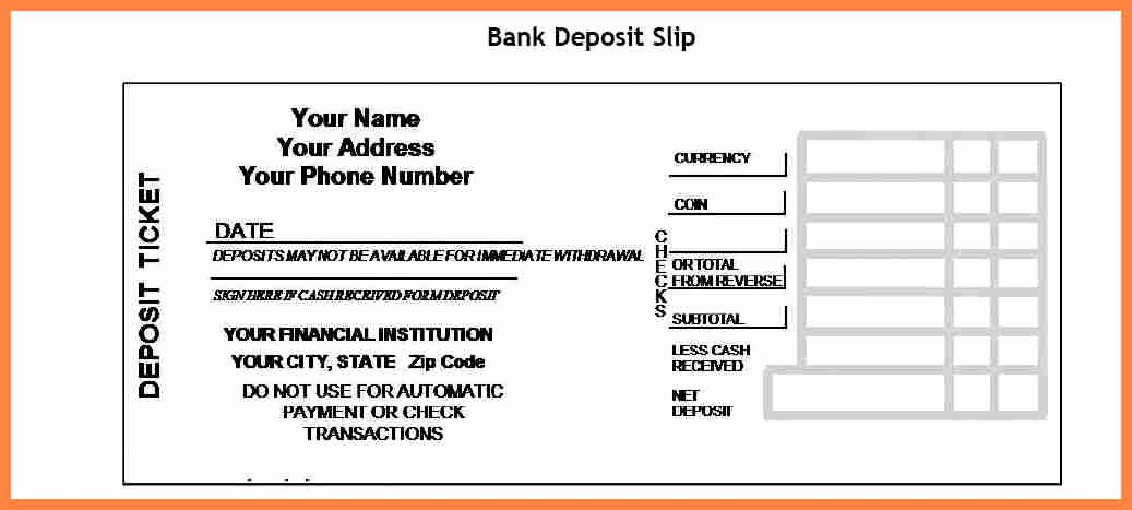 Free Printable Deposit Slips Template Best Of 8 Free Printable Deposit Slips