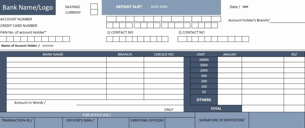 Free Printable Deposit Slips Template Fresh Download Bank Deposit Slip Template