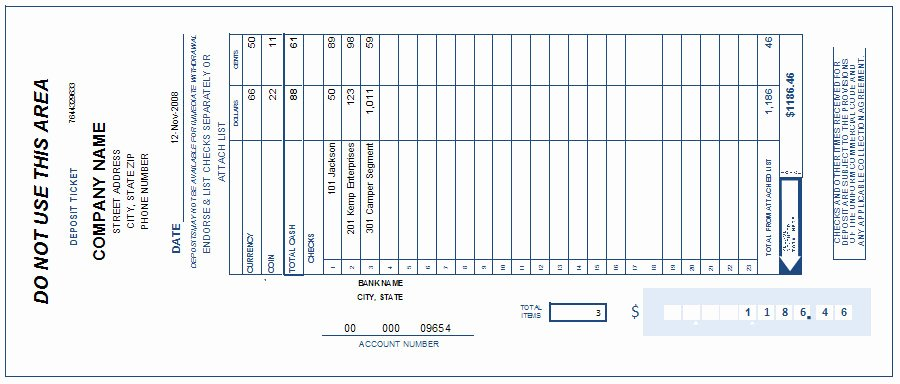 Free Printable Deposit Slips Template New Free Printable Deposit Slip Template