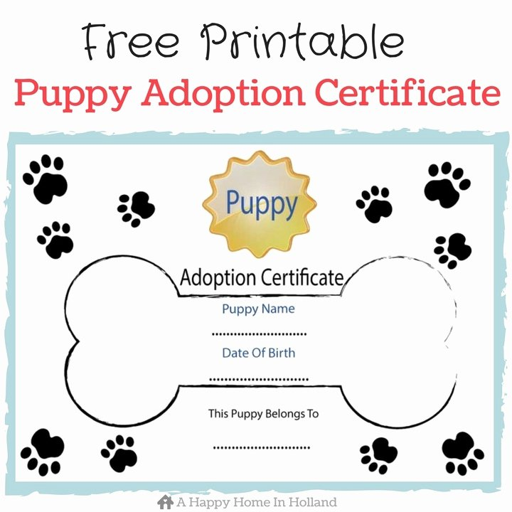 Free Printable Dog Birth Certificate Lovely Children S Dog themed Party Ideas Lots Of Fun Ideas and