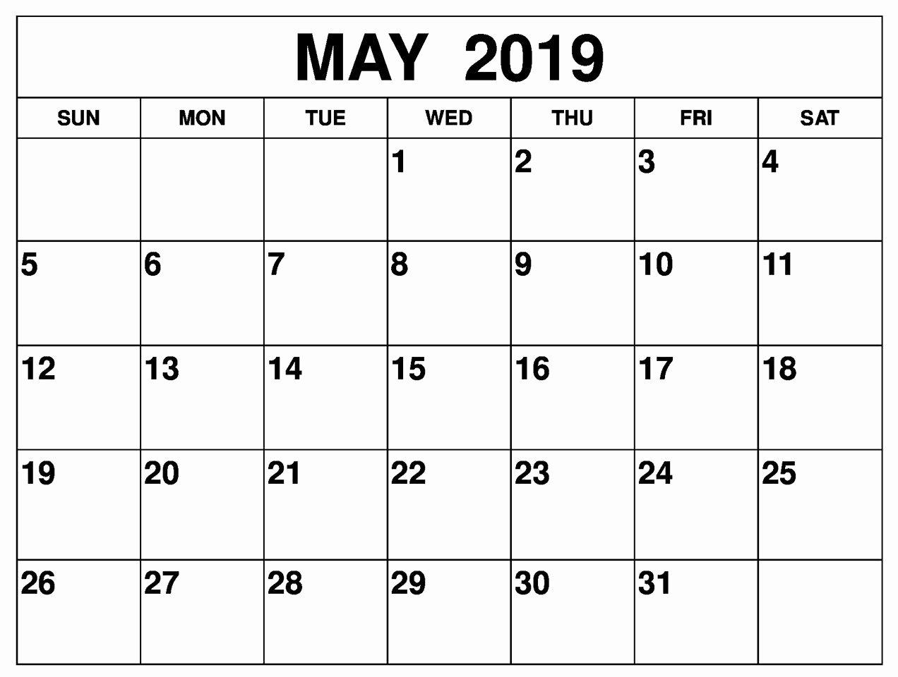 Free Printable Editable Calendar Best Of Free Printable May 2019 Calendar Editable