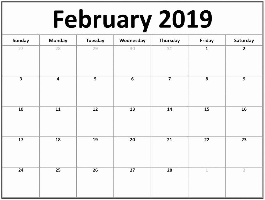 Free Printable Editable Calendar Elegant Free Download February 2019 Editable Calendar