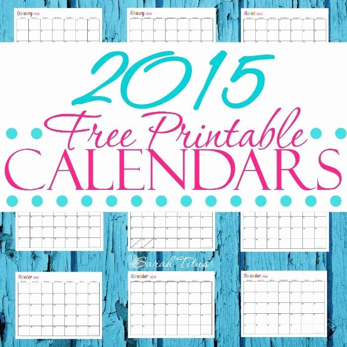 Free Printable Editable Calendar Fresh Free 2015 Printable Calendars Pletely Editable Online