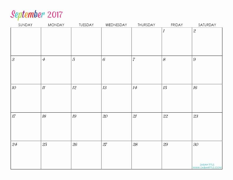 Free Printable Editable Calendar Luxury Custom Editable Free Printable 2017 Calendars Sarah Titus