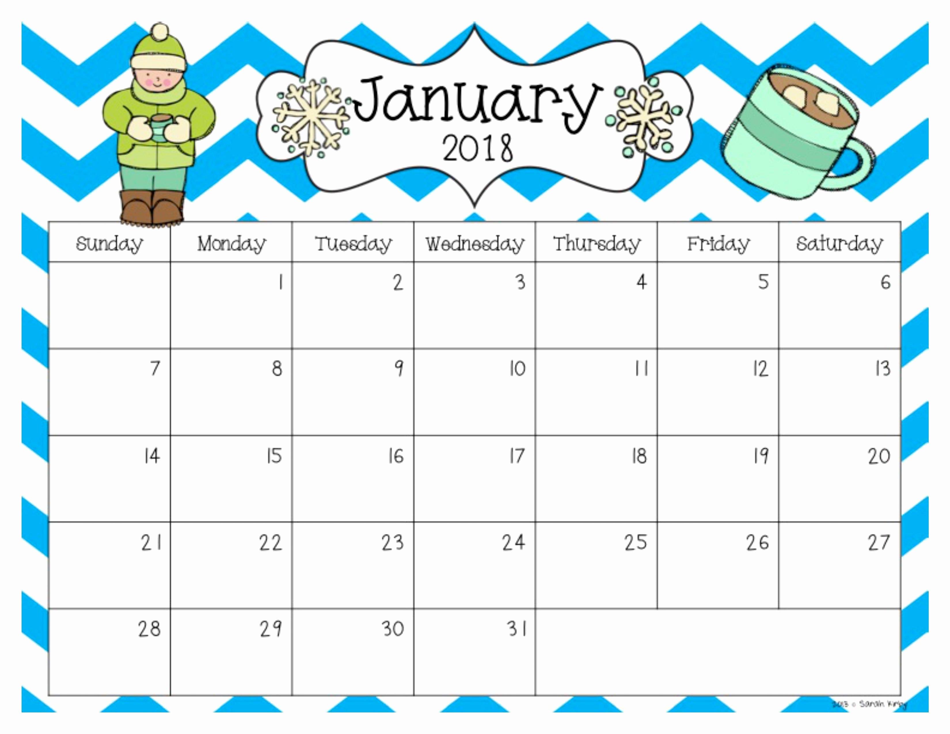 Free Printable Editable Calendar Luxury Free 2018 and 2019 Calendar Classroom