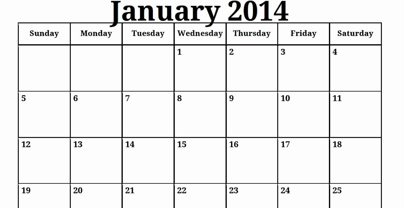 Free Printable Editable Calendar New Free Calendar Template 2014
