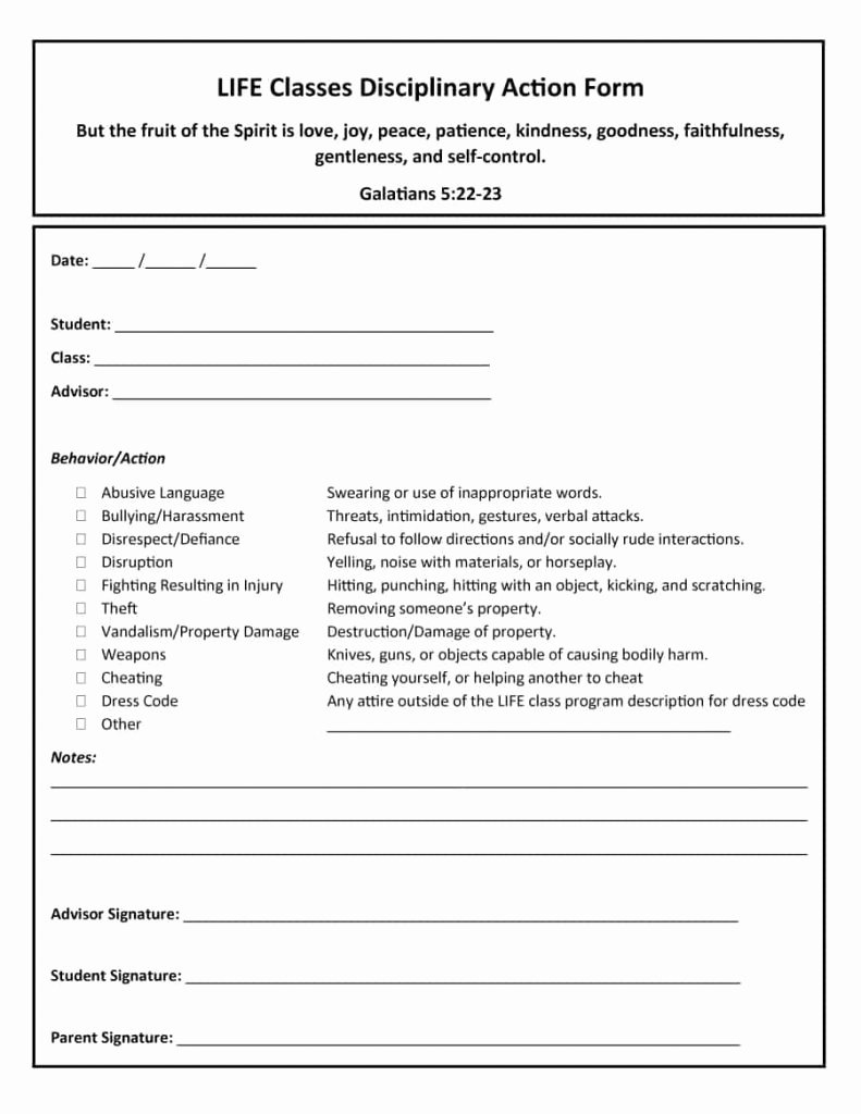 Free Printable Employee Disciplinary forms Best Of Employee Write Up form for Employees Effective forms