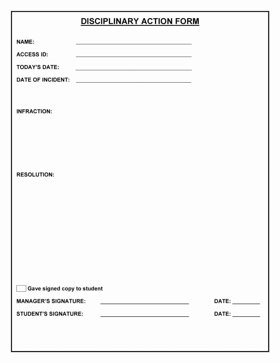 Free Printable Employee Disciplinary forms Elegant Write Up form