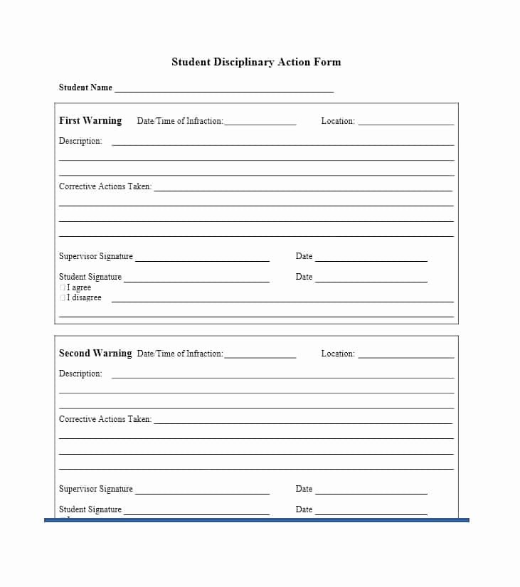 Free Printable Employee Disciplinary forms Inspirational 40 Employee Disciplinary Action forms Template Lab