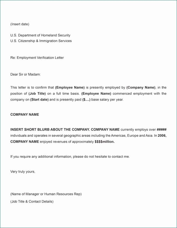Free Printable Employment Verification Letter Unique Elegant Letter to Verify Employment