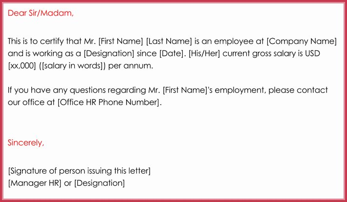 Free Printable Employment Verification Letter Unique Employment Verification Letter 13 Samples & formats In