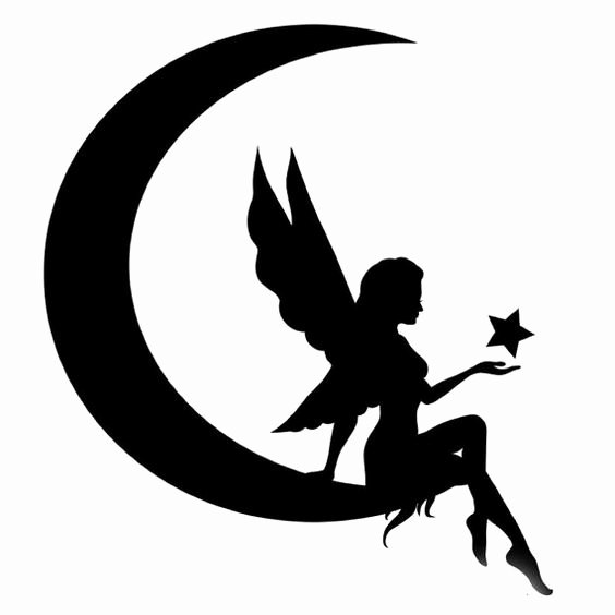 Free Printable Fairy Silhouette Elegant Fairy Silhouette Vector Dxf File Free Download 3axis