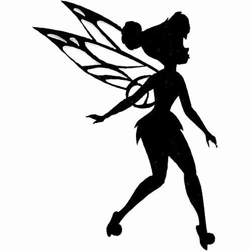 Free Printable Fairy Silhouette New Disney Fairies Iron Appliques Tinkerbell Silhouette