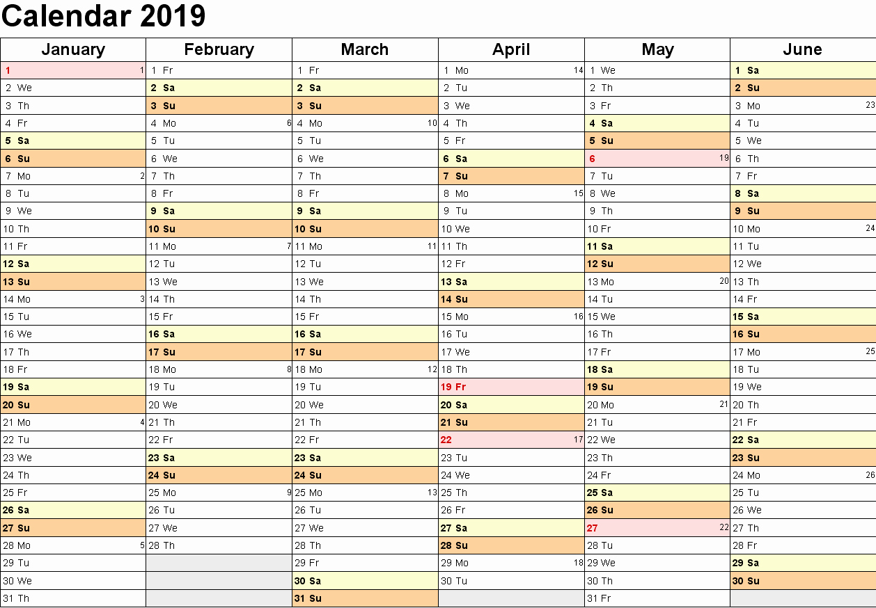 Free Printable Family Calendar Awesome 2019 Family Calendar Birthday Reminder Planner
