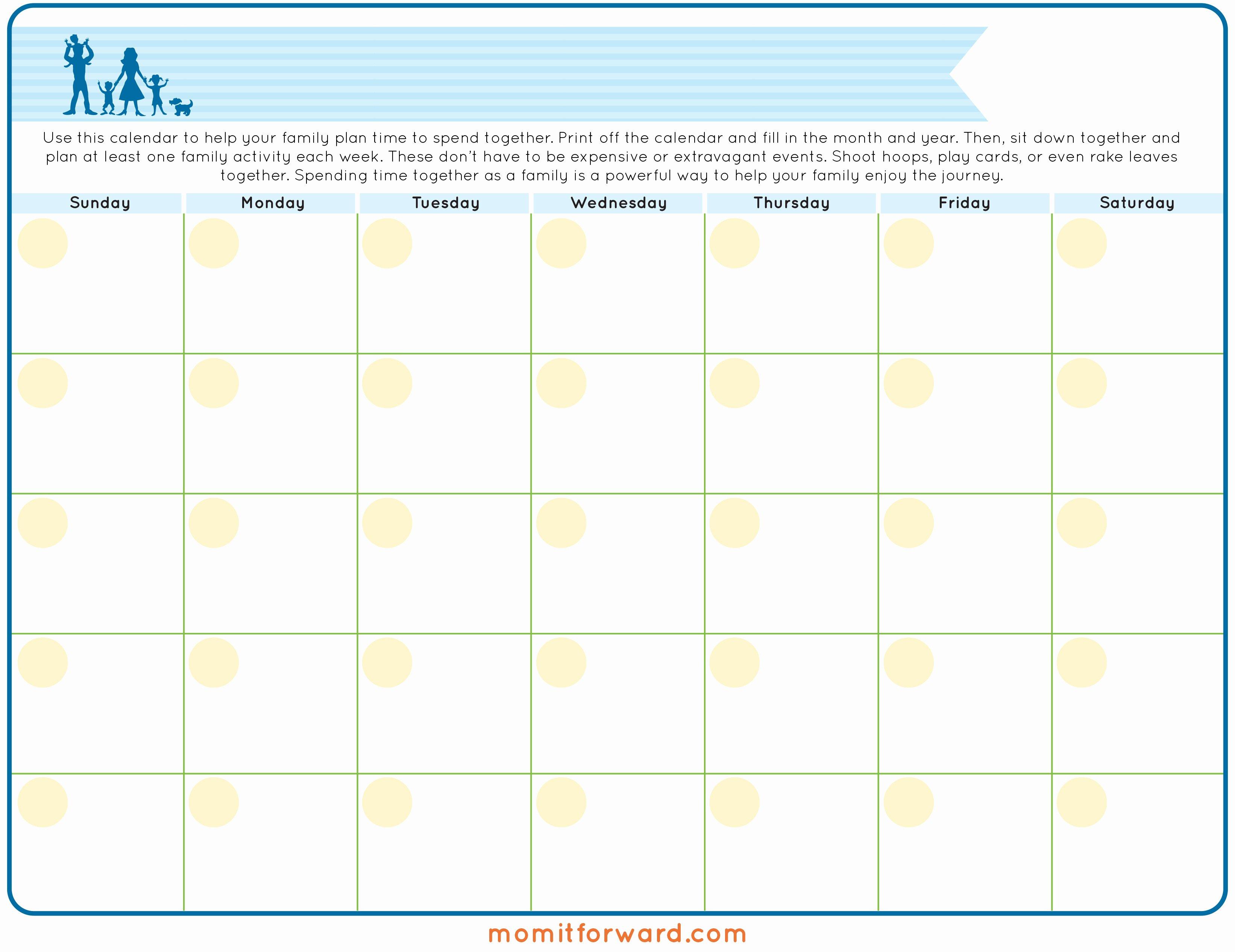 Free Printable Family Calendar Awesome Family Calendar Printable Mom It forwardmom It forward
