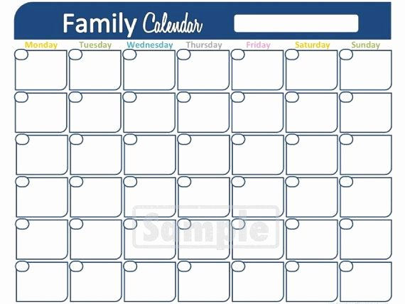 Free Printable Family Calendar Awesome Family Calendar Printable Monthly Calendar Household
