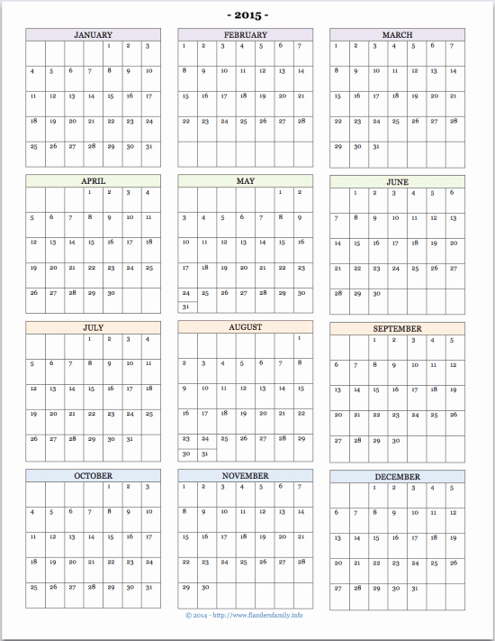 Free Printable Family Calendar Beautiful Free Printable 2015 Calendars Flanders Family Homelife
