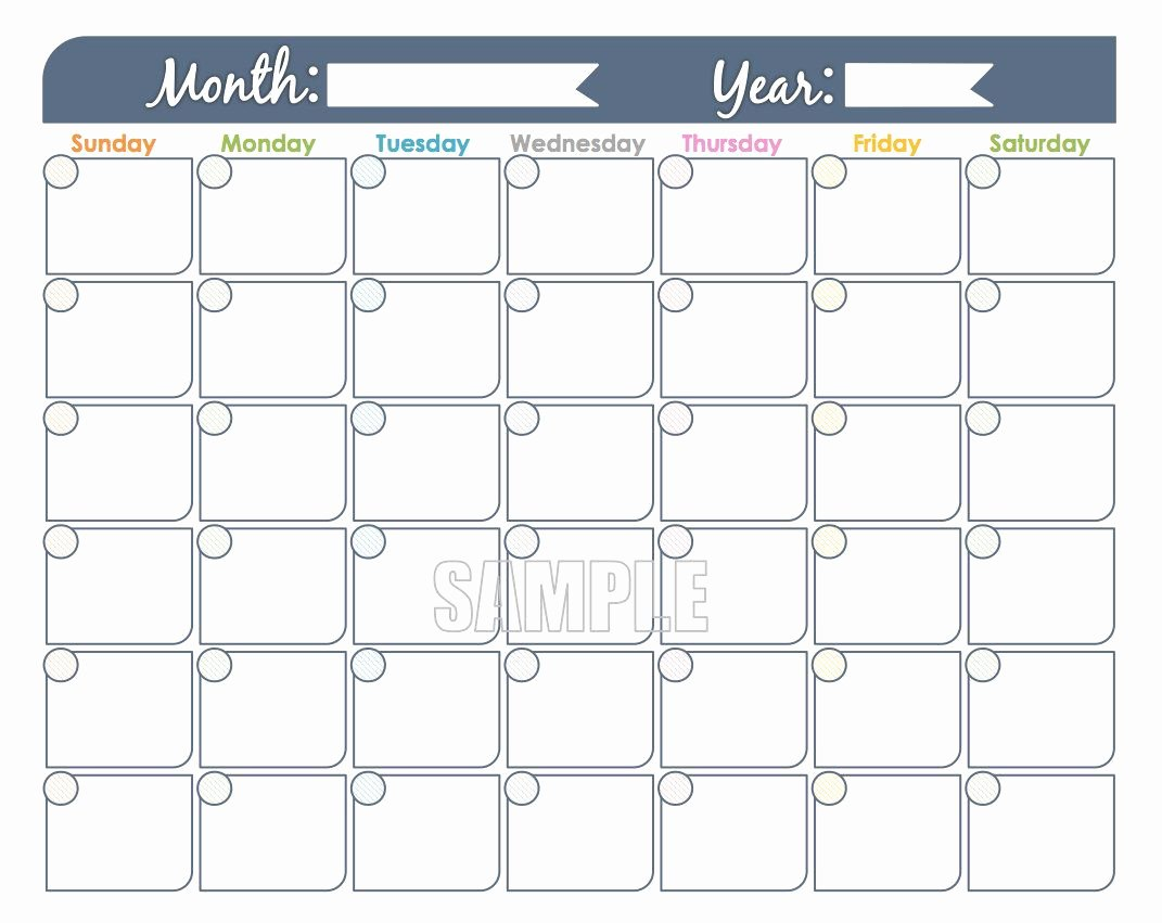Free Printable Family Calendar Beautiful Monthly Calendar Printable Undated Fillable Family