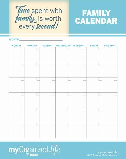 Free Printable Family Calendar Beautiful Printable Family Calendar Keep Your Family organized