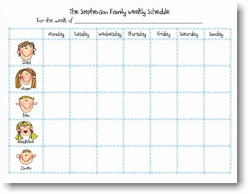 Free Printable Family Calendar Best Of Weekly Schedule Notepads