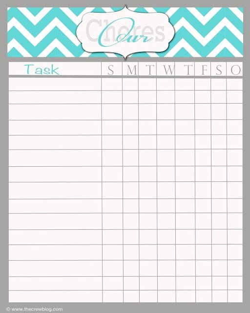 Free Printable Family Chore Charts Awesome Free Weekly Chore Chart Printable
