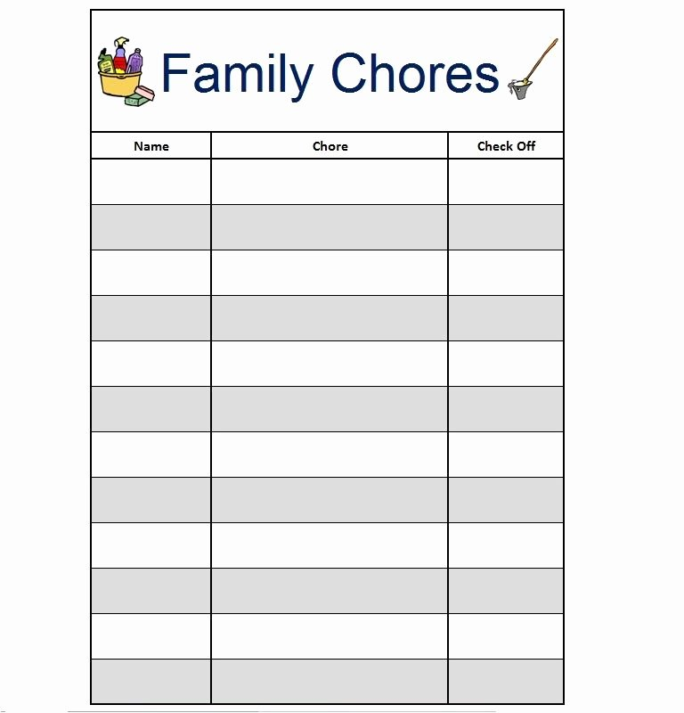 Free Printable Family Chore Charts Luxury Free Printable Chore List Chart