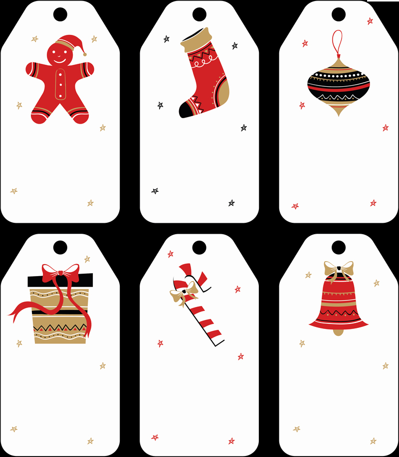 Free Printable Favor Tags Template Luxury Free Christmas Gift Tag Templates Editable & Printable