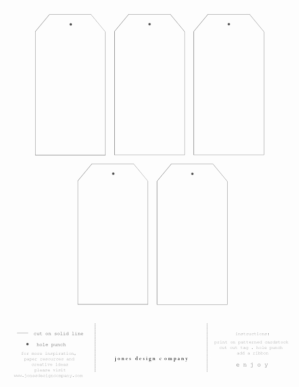 Free Printable Favor Tags Template New Diy T Tags Free Template and Printable Paper