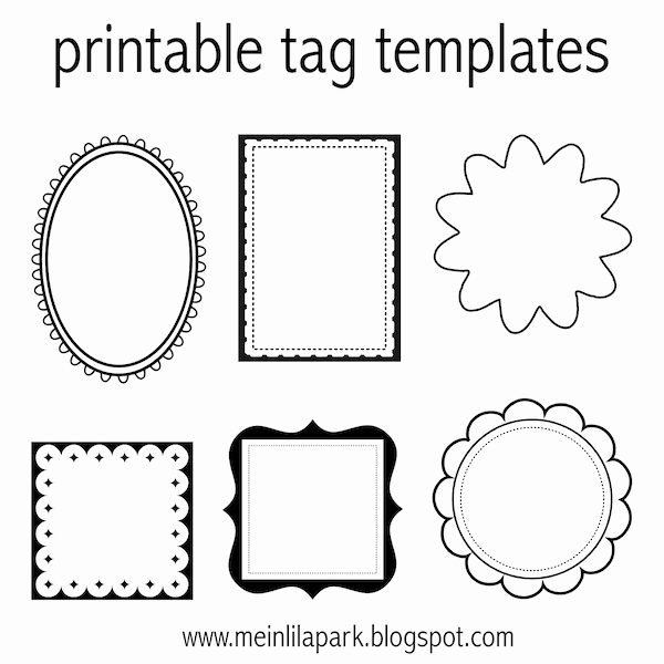 Free Printable Favor Tags Template Unique Free Printable Tag Templates for Diy Tags Ausdruckbare