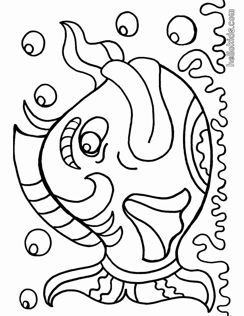 Free Printable Fish Pictures Inspirational Free Fish Coloring Pages for Kids