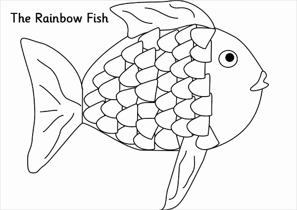 Free Printable Fish Pictures Lovely 9 Rainbow Coloring Pages Jpg Ai Illustrator Download