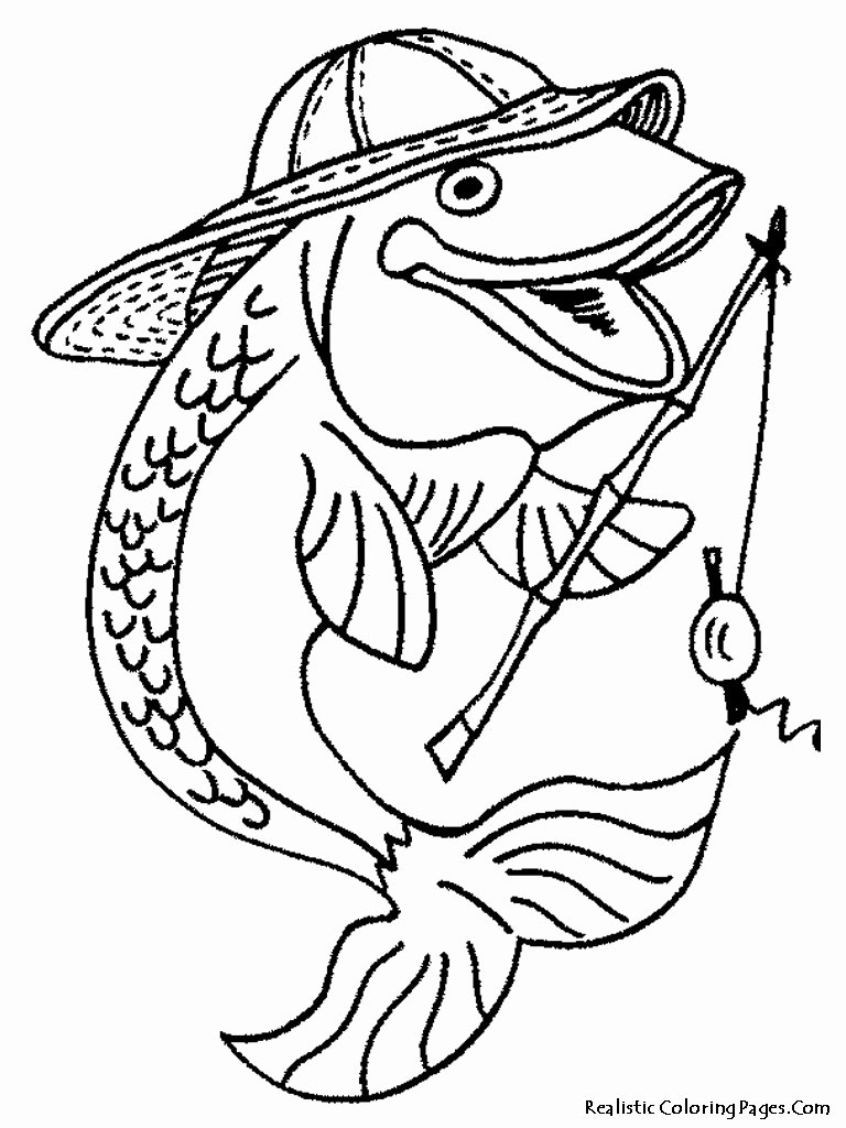 Free Printable Fish Pictures Lovely Fish Realistic Coloring Pages