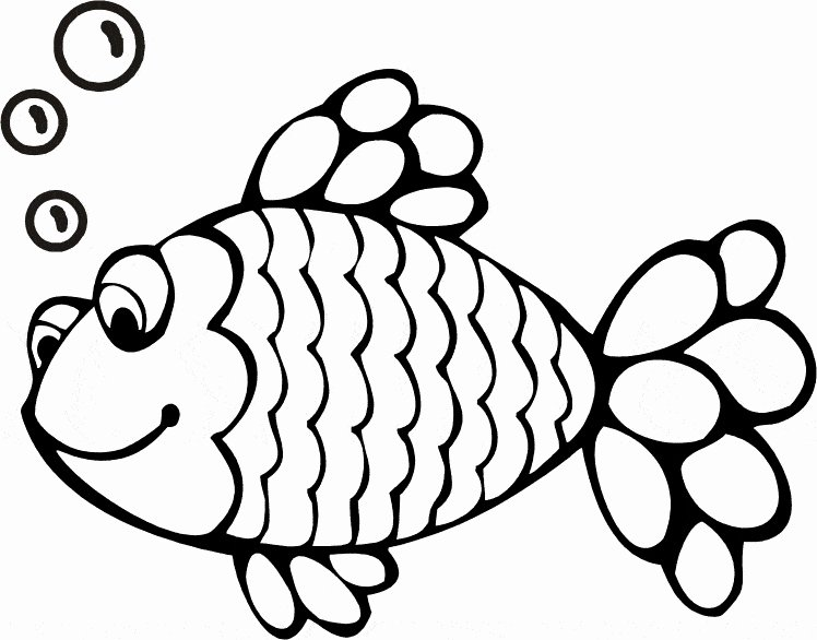 Free Printable Fish Pictures Unique Rainbow Fish Clipart Black and White 20 Free Cliparts