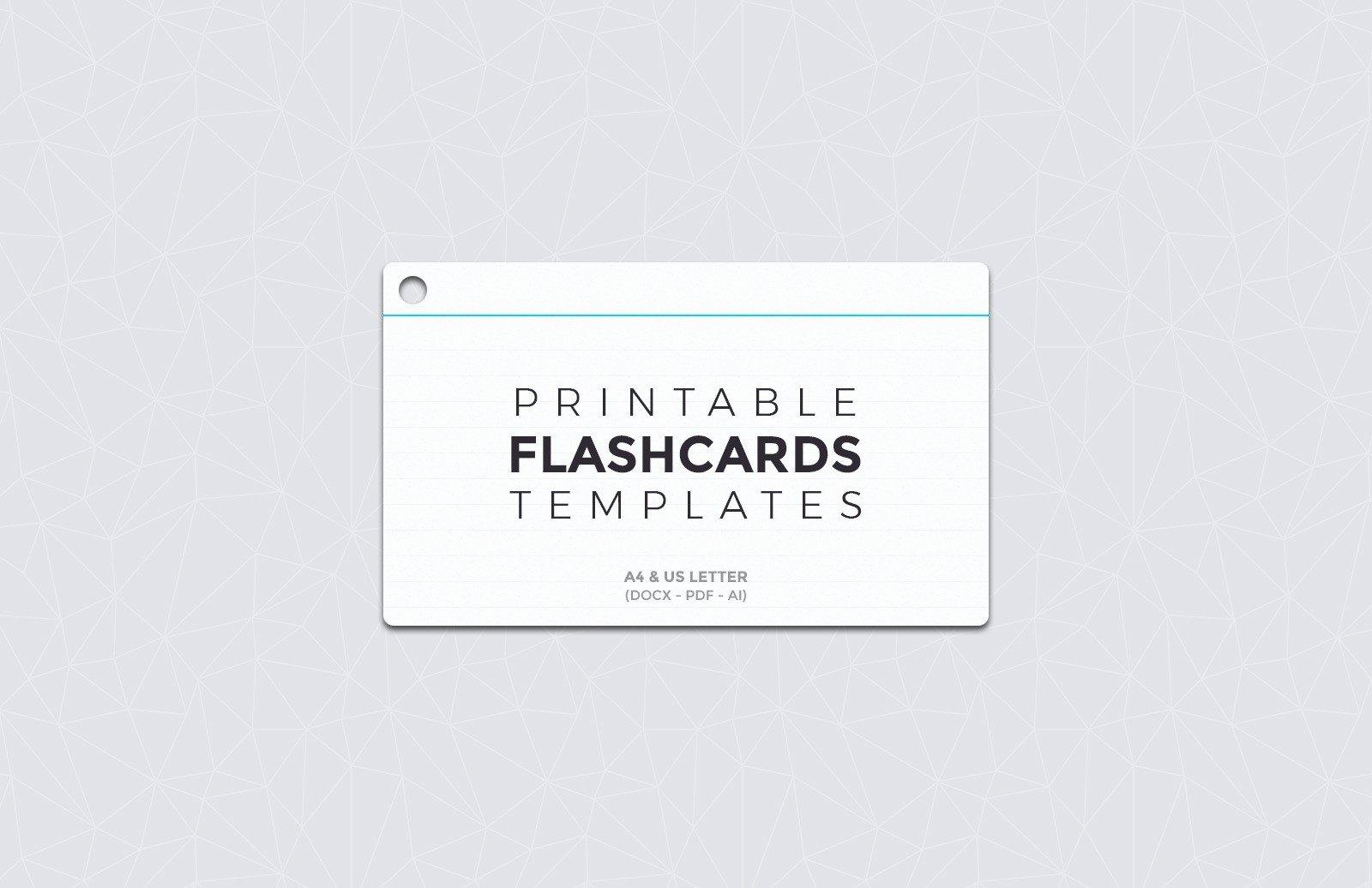 Free Printable Flash Card Templates Fresh Free Printable Flashcard Templates — Medialoot