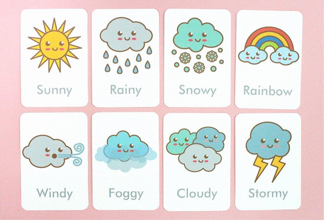 Free Printable Flash Card Templates Inspirational Free Printable Weather Flash Cards